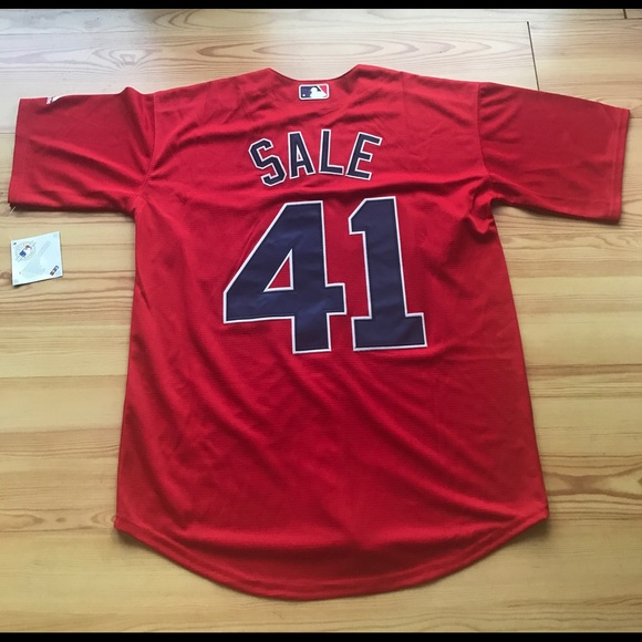 half off 48867 85f9b Boston Red Sox #41 Chris Sale New Red Jersey NWT